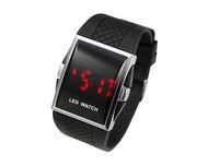 free shipping -- Good quality LED Watch unisex LED digital Watch ( White, Black)