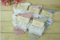 Tutuanna 100% 2013 vintage cotton lace decoration women socks sock