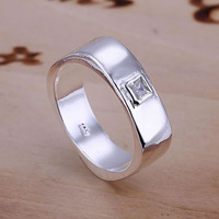 Inlaid Square Ring 925 silver ring,high quality ,fashion jewelry, Nickle free,antiallergic gtsy fynd
