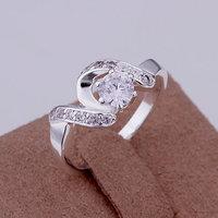inset Stone twist line Ring 925 silver ring,high quality ,fashion jewelry, Nickle free,antiallergic ozml zzdb