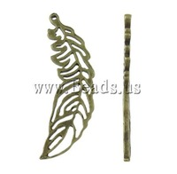 Free shipping!!!Zinc Alloy Animal Pendants,2013 new, Feather Shape, antique bronze color plated, nickel, lead & cadmium free