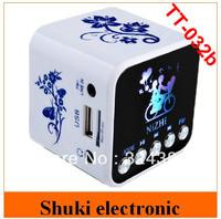 digital portable laptop mini speaker TT-032B, mini stereo loudspeaker with FM radio TF card usb disk