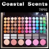 Coastal scents 78 professional eye shadow blush combination make-up disk makeup palette