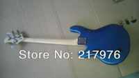 Musicman sabre 4 string blue bass guitar chrome nickel hardware free shipping