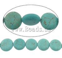Free shipping!!!Turquoise Beads,2013 designers for men, Natural Turquoise, Flat Round, blue, 12x4.50mm, Hole:Approx 1mm