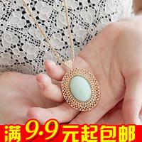 wholesale 10pcs/lot E4116--1 queer accessories oval 2014 cutout necklace lovers necklace