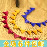wholesale 10pcs/lot Fashion accessories neon color fashion rivet triangle necklace collar necklace