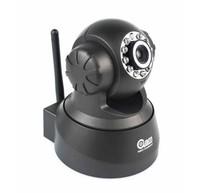 Freeshipping Black Wireless IP Camera P2P Dual Audio IR Night Vision Pan/Tilt Speed Monitor F2098A
