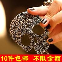 wholesale 10pcs/lot D010 ! fashion accessories punned skull necklace vintage gothic necklace