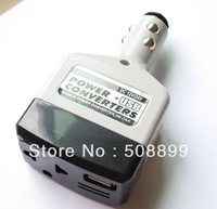 20pcs/lot Power Inverter Power Inverter With USB 12V Charge the phone turn 220V Free  Shipping