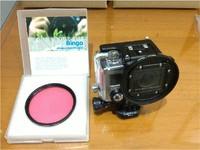 3D Printer GoPro hero3 fliter ring red water and UV fliter close range