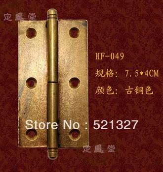 Antique furniture, copper fittings copper hinge shake 7.5CM bronzed skin HF-049