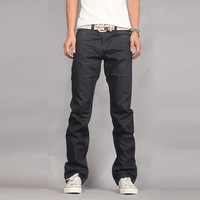 Free shipping small straight men's cultivate one's morality fashion jeans 2013 new business black cowboy pants