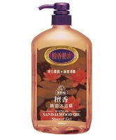 Sandalwood essential oil shower gel whitening soothing 1000ml full-body