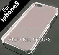 Hard Plastic clear crystal transparent back cover cases for iphone 5 5G