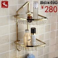Zirconium copper gold trigonometric double layer bathroom jiaojia fashion basket guanchong g122