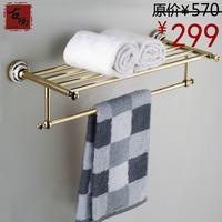 Antique bathroom towel rack copper gold plated towel rack fashion vintage bathroom accessories g203