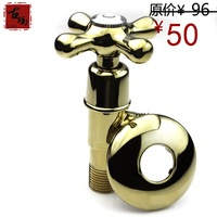 Zirconium fashion antique gold full triangle valve rustic quality character valve water stop valve guanchong s80