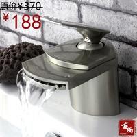 Waterfall faucet waterfall wiredrawing hot and cold basin faucet guanchong 161e