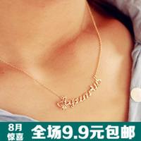 wholesale 10pcs/lot 1801 brief fashion short necklace girls chain all-match letter necklace
