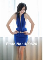 2014 Sexy  Backless Bandage Dress  Evening Party  Blue Dresses 27