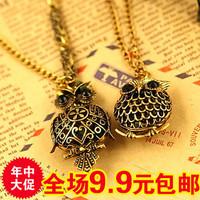 wholesale 10pcs/lot 1989 accessories vintage cutout three-dimensional cutout owl necklace female necklace