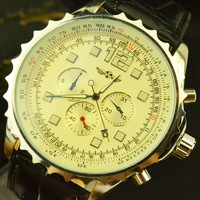 Free Shipping! New Luxury!!Hot Sale!!Decorative Fake 6-Hands!Big Dial Case Men Elegant Calendar Date Automatic  Sport Watch