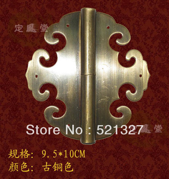 Antique furniture, copper hinge  clouds roll skin HH-113 models 10CM