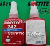 Wholesale price   242  Medium strength     adhesive glue screw 50ml,10pcs/lot free shipping