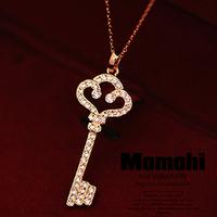 free shipping wholesale Key short necklace female short design chain fashion