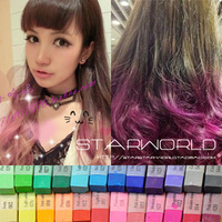free shipping wholesale HAIR COLOR  gradient neon color crayon disposable stick hair dye haircolouring pen HARAJUKU set