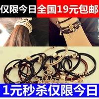 wholesale 10pcs/lot Bow cartoon pendant headband rubber band tousheng two-site bracelet
