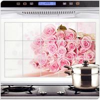 2014 NEW Oil cigarette paper aluminum foil wallpaper high temperature resistant oil kitchen stickers furniture free shipping