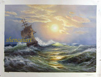 Free shipping Seascape Painting !The Sailling Boat ! Wall Art Painting