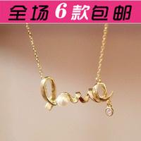Free shipping wholesale Accessories fashion unique love necklace female