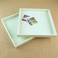 2PCS/Lot, Zakka groceries white wood pallet storage box home daily use props 20*20*2cm Free shipping