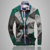 2013 New Male Geometry Decorative Pattern Cardigan Men's Sweaters Free Shipping