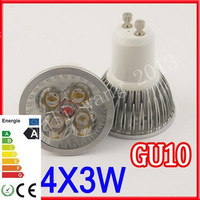 8pcs/lot CREE GU10 6W 9W 3x3W LED Spot Light Bulb Spotlight spot lamp Downlight 680lm fast delivery