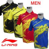 Free Shipping 2012 Olympic Game LI-Ning Table Tennis Men's Dragon Shirt  /Tennis Clothes / Sports Clothes / Table Tennis Clothes