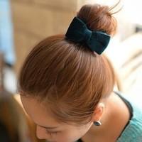 F017 flannelet elegant bow cloth hairpin fashion banana clip hair accessory twist clip accessories female