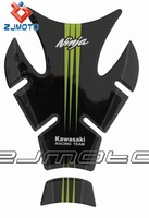 Green 3D Motorcycle oil tank Sticker decal Pads For Kawasaki ninja 250 300 400 zx10r zx6r z750 z800 z1000 zx636