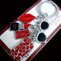 Lipstick Keychain / creative cute bag and car key chain fashion key ring
