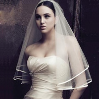 Free shipping HJE-003 hot sale high quality wedding veil /bridal veils