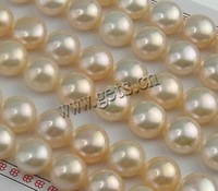 Free shipping!!!Half Drilled Cultured Freshwater Pearl Beads,Jewellery, Round, natural, half-drilled, 10.5-11mm