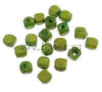 Free shipping!!!Wood Beads,Elegant, Cube, green, 3x3mm, Hole:Approx 1mm, 25000PC/Bag, Sold By Bag