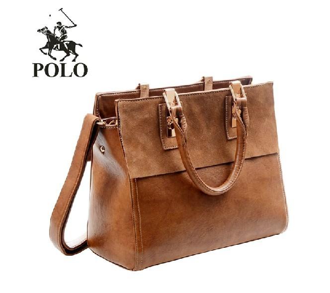 Brilliant POLO Bag PU Leather Handbag Women PU Leather Handbags Shoulder Bag
