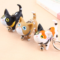 Wholesale High Quality Fashion Plastic Couple key chain cat kate key chain rings bulk  key ring