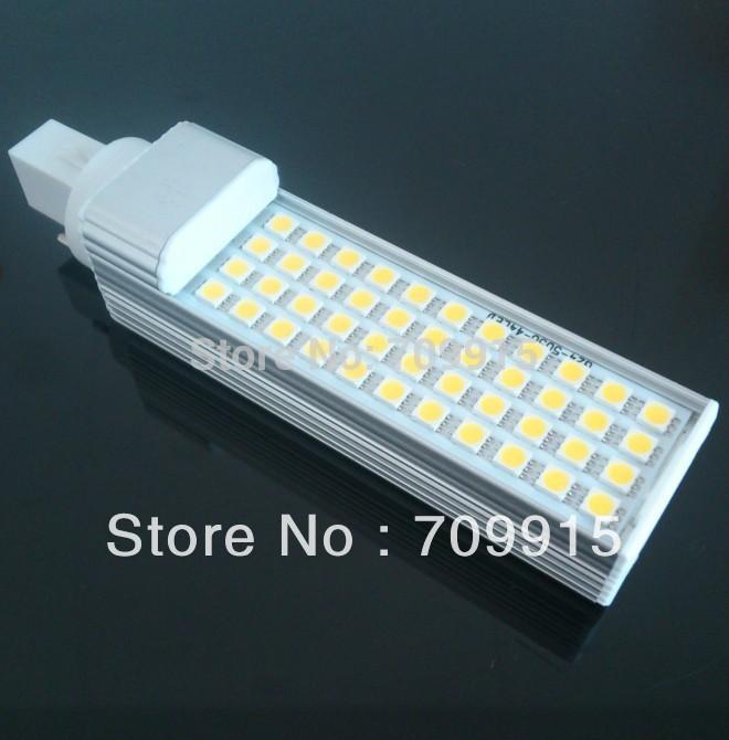 Hot selling High lumens 15W G24 LED Lamp G24 Plug LED Bulb,60PCS SMD 5050 PL Light With Very Good Quality CNPA Free shipping(China (Mainland))
