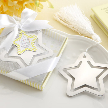 Creative Stainless Steel Bookmarks Five-pointed Star Bookmarks/Gift Bookmark Best Wedding Supplies