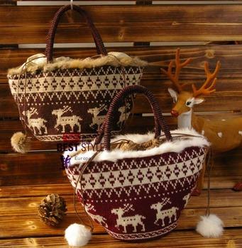 Accessories cooco elizabethans rabbit fur ball drawstring handbag women bags